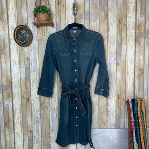 VTG Old Navy Denim Button Down Mini Dress